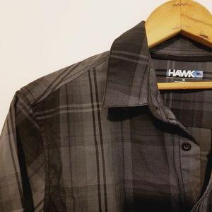 Black and grey Tony Hawk short sleeve button down